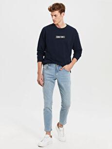%86 Pamuk %12 Polyester %2 Elastan Normal Bel Jean Dar 750 Slim Fit Jean Pantolon