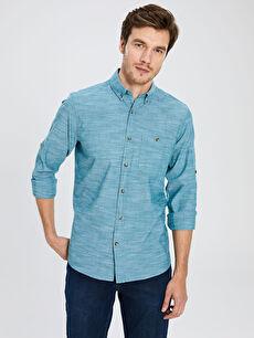 Regular Fit Kırçıllı Gömlek