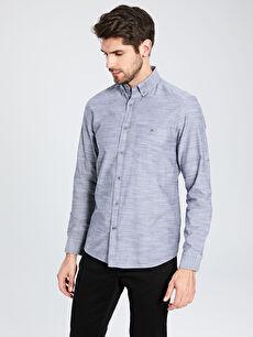 Antrasit Regular Fit Kırçıllı Gömlek 0S1369Z8 LC Waikiki