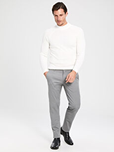 Slim Fit Gabardin Chino Pantolon