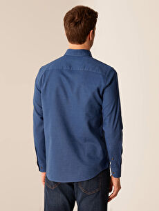 %70 Pamuk %30 Keten Regular Fit Basic Keten Gömlek