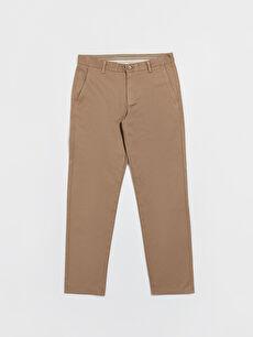 Kahverengi Regular Fit Armürlü Basic Pantolon 0S1963Z8 LC Waikiki