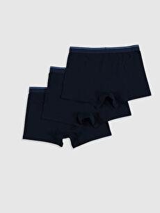 %95 Pamuk %5 Elastan İç Giyim Alt Bol Esnek Kumaş Geniş Kalıp Boxer 3'lü