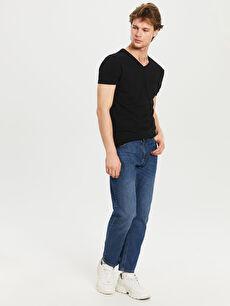 %100 Pamuk V Yaka Basic Tişört