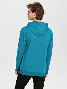 %80 Pamuk %20 Polyester  Kapüşonlu Basic İnce Sweatshirt