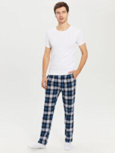 Mavi Standart Kalıp Penye Pijama Altı 0S3208Z8 LC Waikiki