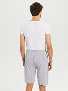 %49 Pamuk %51 Polyester Standart Kalıp Bermuda Pijama Altı