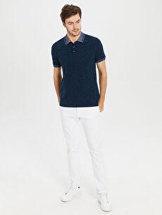 %98 Pamuk %2 Polyester Polo Yaka Basic Tişört