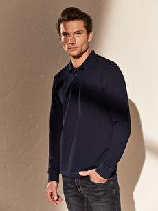 Polo Yaka Basic Uzun Kollu Tişört