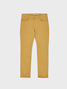 LC Waikiki Sarı Dar Kalıp Gabardin Chino Pantolon