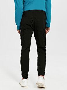 %98 Pamuk %2 Elastan Normal Bel Dar Pilesiz Pantolon Slim Fit Gabardin Kargo Pantolon