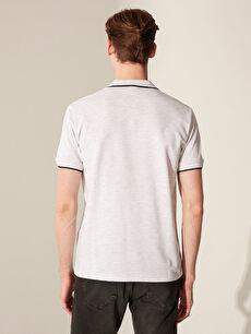 %85 Pamuk %15 Polyester Polo Yaka Basic Pike Tişört