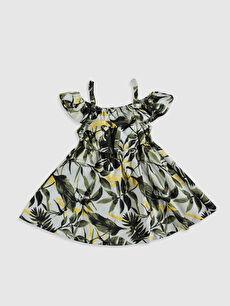 %100 Pamuk %100 Pamuk Süprem Bisiklet Yaka Elbise Baskılı Aile Koleksiyonu Kız Bebek Desenli Elbise ve Saç Bandı