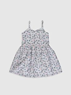 %100 Pamuk %100 Pamuk Poplin Elbise Kayık Yaka Standart Baskılı Aile Koleksiyonu Kız Çocuk Desenli Poplin Elbise