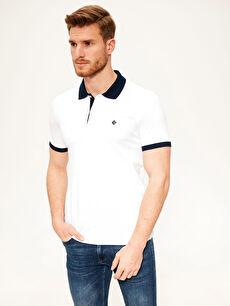 Polo Yaka Şeritli Basic Tişört