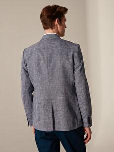 %100 Polyester Dar Kalıp Dokulu Blazer Ceket