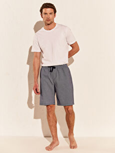 %36 Pamuk %64 Polyester Standart Pijamalar Standart Kalıp Şort Pijama Altı