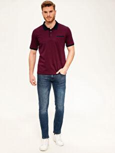 Erkek Polo Yaka Şeritli Tişört