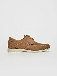 Erkek Süet Hakiki Deri Bağcıklı Klasik Ayakkabı
