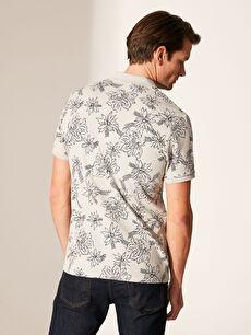 %92 Pamuk %8 Polyester Polo Yaka Desenli Tişört