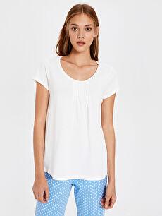 %100 Pamuk Standart Pijamalar Puantiyeli Pamuklu Pijama Takımı