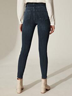 %90 Pamuk %9 Polyester %1 Elastan Super Skinny Jean Pantolon