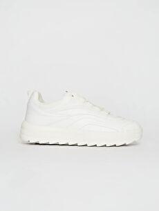 Beyaz Kadın Kalın Taban Günlük Ayakkabı 0S9947Z8 LC Waikiki