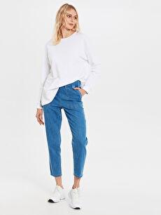 %100 Pamuk Bol Normal Bel Jean Normal Bel Bol Jean