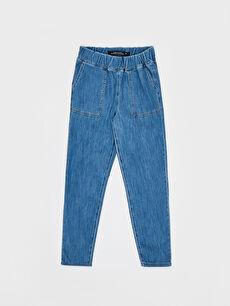 %100 Pamuk Normal Bel Bol Jean