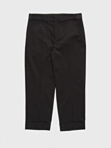 %69 Pamuk %27 Polyester %4 Elastan Kısa Paça Esnek Kumaş Pantolon