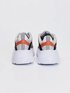 Kadın Kalın Taban Renk Bloklu Günlük Spor Ayakkabı