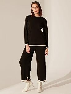 Siyah Şerit Detaylı Triko Pantolon 0SL842Z8 LC Waikiki
