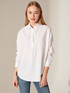 Beyaz Pamuklu Salaş Bluz 0SO105Z8 LC Waikiki