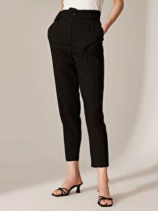Kadın Bilek Boy Kemerli Havuç Pantolon