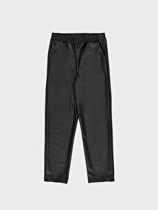 LC Waikiki Siyah Bilek Boy Deri Görünümlü Pantolon