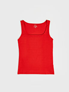 Kırmızı U Yaka Esnek Atlet 0SO598Z8 LC Waikiki