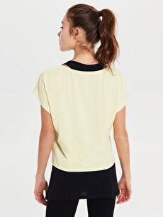 Kadın Aktif Spor Pamuklu Tişört