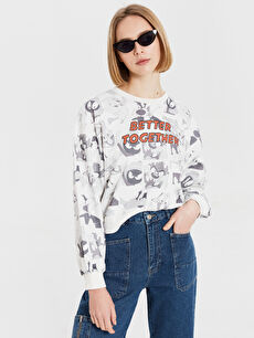 Looney Tunes Karakter Baskılı Sweatshirt