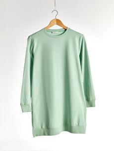 Yeşil Düz Salaş Sweatshirt 0SR681Z8 LC Waikiki
