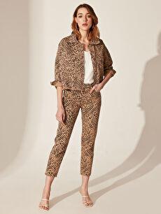 Kadın Quzu Leopar Desenli Ceket