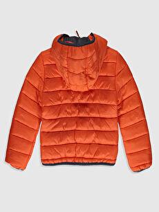 %100 Poliamid %100 Polyester Mont Orta Erkek Çocuk Kapüşonlu Şişme Mont