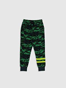 Yeşil Erkek Çocuk Kamuflaj Desenli Jogger Eşofman Altı 0S0625Z4 LC Waikiki