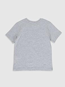%98 Pamuk %2 Viskon Baskılı Normal Bisiklet Yaka Tişört Kısa Kol Erkek Çocuk Yazı Baskılı Pamuklu Tişört