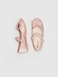 %0 Diğer malzeme (poliüretan)  Kız Çocuk 31-36 Numara Babet Ayakkabı