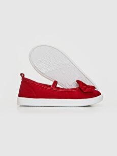 Kız Çocuk Kız Çocuk 25-29 Numara Bez Babet Ayakkabı