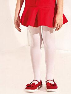 Kırmızı Kız Çocuk 25-29 Numara Bez Babet Ayakkabı