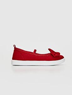 Kırmızı Kız Çocuk 30-35 Numara Bez Babet Ayakkabı 0S2343Z4 LC Waikiki