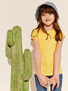 Kız Çocuk Kız Çocuk Pamuklu Basic Tişört
