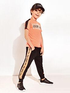Siyah 23 Nisan Erkek Çocuk Jogger Eşofman Altı 0S3296Z4 LC Waikiki