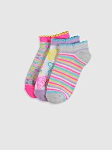 Çok Renkli Kız Çocuk Patik Çorap 3'lü 0S3386Z4 LC Waikiki